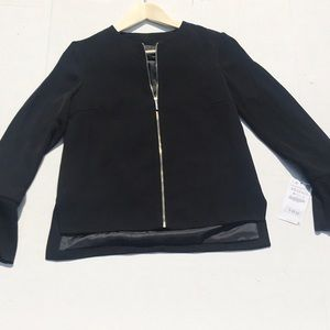 NWT Zara Basic Black Jacket w/ Flared Sleeves